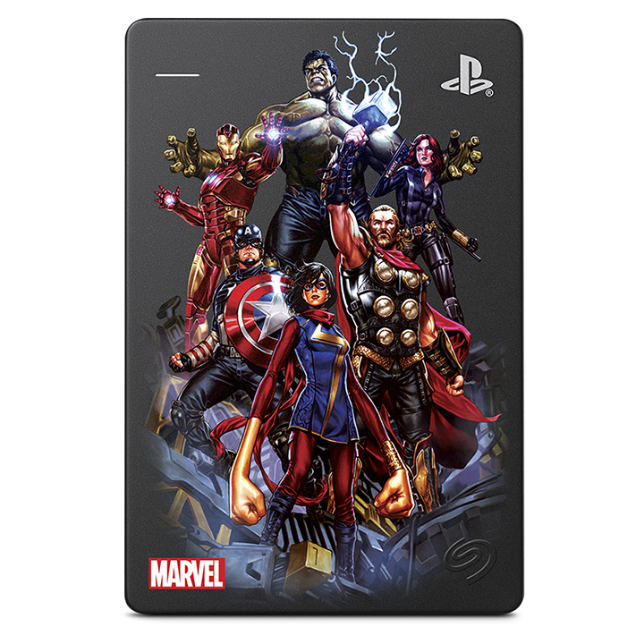 DISCO DURO EXTERNO SEAGATE STGD2000104 2TB USB 3.0 PS4 MARVEL AVENGERS